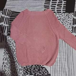 Local brand/Pink/Knitted/Sweater