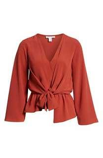 BNWT FRONT TIE BLOUSE