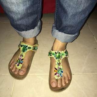 Masecha sandal crystal deco