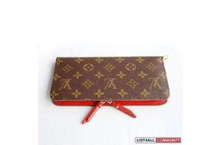 Louis Vuitton Bifold Wallet red style