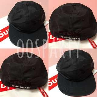 ac72fc844cb 100% authentic- Supreme Strap Logo 6-panel Cap (Black)