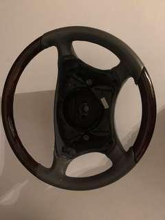 Mercedes w220 steering wheels walnut wood without airbag