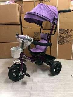 4 in 1 Stroller Bike with Rubber Tires
