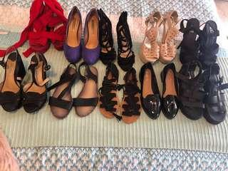 Assorted Shoes - 10 Pairs for $15