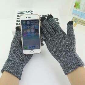 Sarung tangan rajut touchscreen - grey
