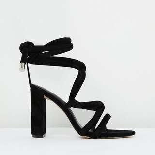 NEW The Mode Collective Dakota Sandals in Black Suede