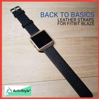 🚚 Leather Strap for Fitbit Versa and Fitbit Blaze