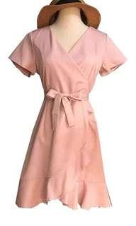 po/ Flare bell sleeves wrap dress