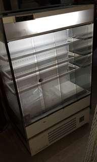 Small open chiller display sushi cold drinks fruits