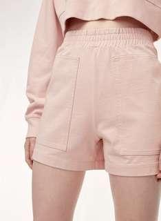 Aritzia pink shorts