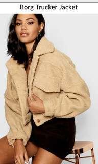 boohoo teddy jacket