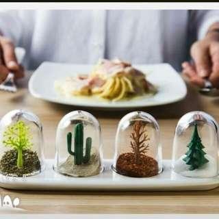 LIZGN廚房四季調味罐 情境設計 民宿餐廳調味擺飾 偶像劇佈置 胡椒罐 香料罐