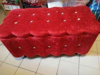 Velvet Ottoman with storage