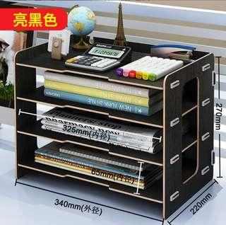 辦公室用品桌面收納盒書架文件夾文具學生宿舍神器置物衛生紙盒