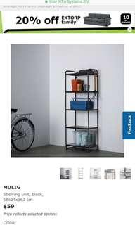 Mulig Shelves with Cover
