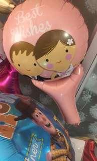 Best wishes wedding door gift balloon