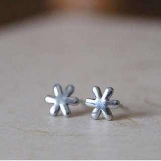 Flower Stud Earrings 925 Sterling Silver Jewellery