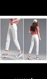 🚚 (New)白色牛仔褲
