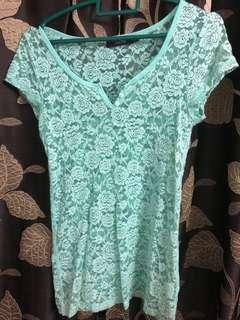 F Block Lace Top