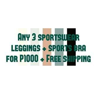 ANY 3 SPORTSWEAR FOR P1000 with FREE SHIPPING