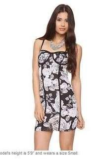 Forever21 fitted spaghetti strap floral dress