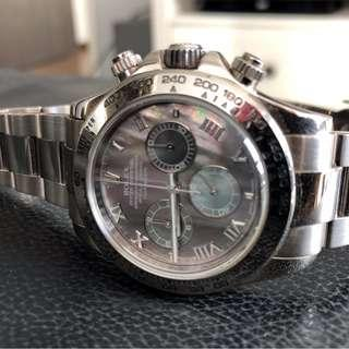 Pre-Owned Rolex Cosmograph Daytona White Gold 116509 Mother Of Pearl
