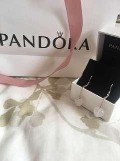 Pandora heart hook drop earrings