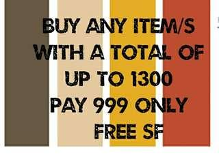 Buy any 3 items for 999 only