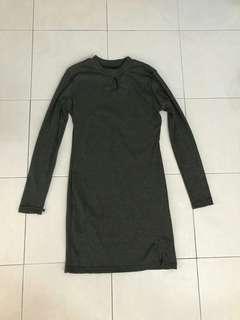 Plain Dark Grey Dress #PRECNY60