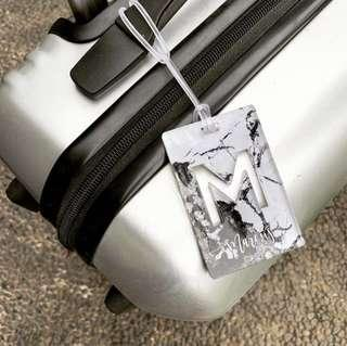 Marble luggage tag - bag tag