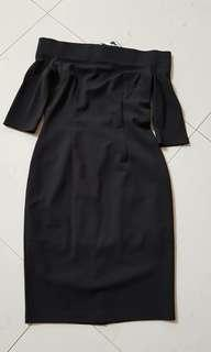 BNWT DOUBLEWOOT Off-shoulder Black Dress DLORA