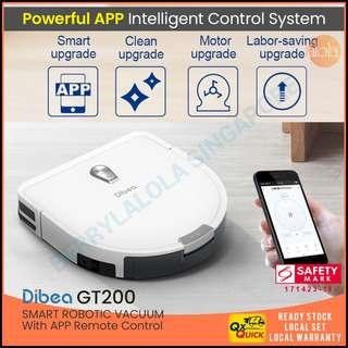[LOCAL SELLER] DIBEA GT200 Robotic Vacuum Cleaner Gyroscope With Wifi Apps Control