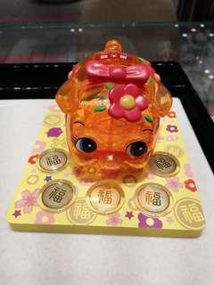 Gold Coin with Pig Zodiac Money Box