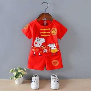 🚚 BN Peppa pig cny Chinese red costume