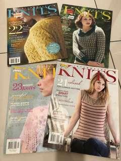 Interweave Knits Magazine x4