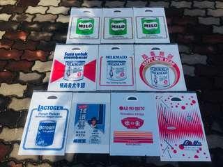 plastic bag milo milkmaid ajinomoto ekonomi handalan