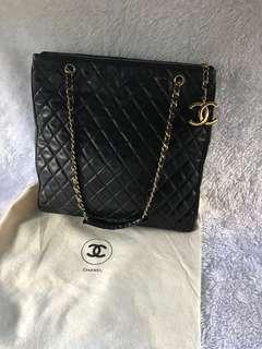 Chanel Metalasse Tote Bag Lambskin Vintage