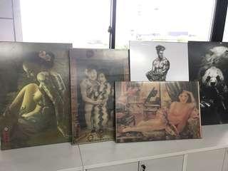 Vintage print artist artwork ready to hang posters