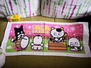 Tama & Friends日本絕版貓狗寵物街長毛巾(日本非賣品罕有)