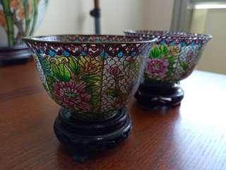 Cloisonne cups