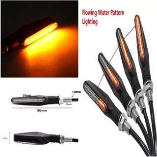 flowing motorcycle signal light straight line