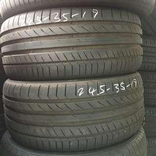 Pre-Owned Continental CSC5 245/35/19 Tyre