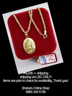 18k Gold Necklace w/Pendant ( click the picture for more items )