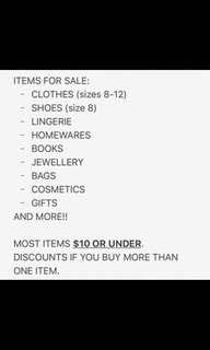 Discounted items!