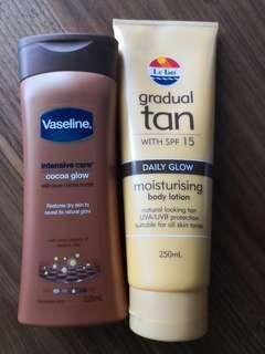Vaseline and LeTan gradual tan