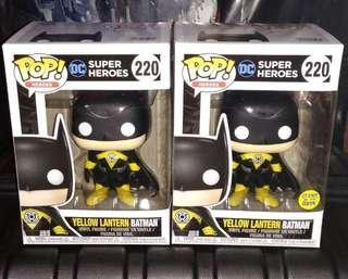 🚚 Yellow Lantern Batman Regular & Glow in the Dark DC Super Heroes Funko Pop Bundle