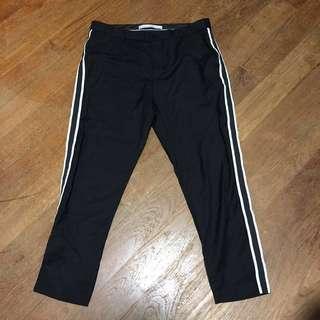 Zara Black Striped Trousers