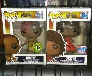 🚚 Okoye Black Panther Marvel Exclusives Funko Pop Bundle