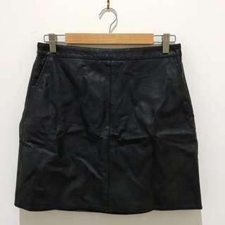 Forever 21 Leatherette Skirt Size L