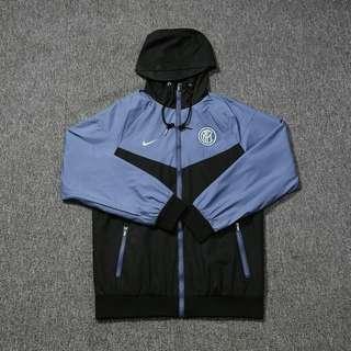 Inter Milan 18-19 Grey-Blue WindBreaker Soccer Jacket
